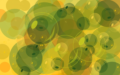 Green bubbles [2] wallpaper