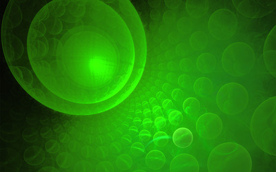 Green bubbles wallpaper