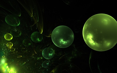 Green bubbles [3] wallpaper