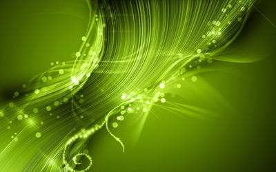 Green circles and curves wallpaper