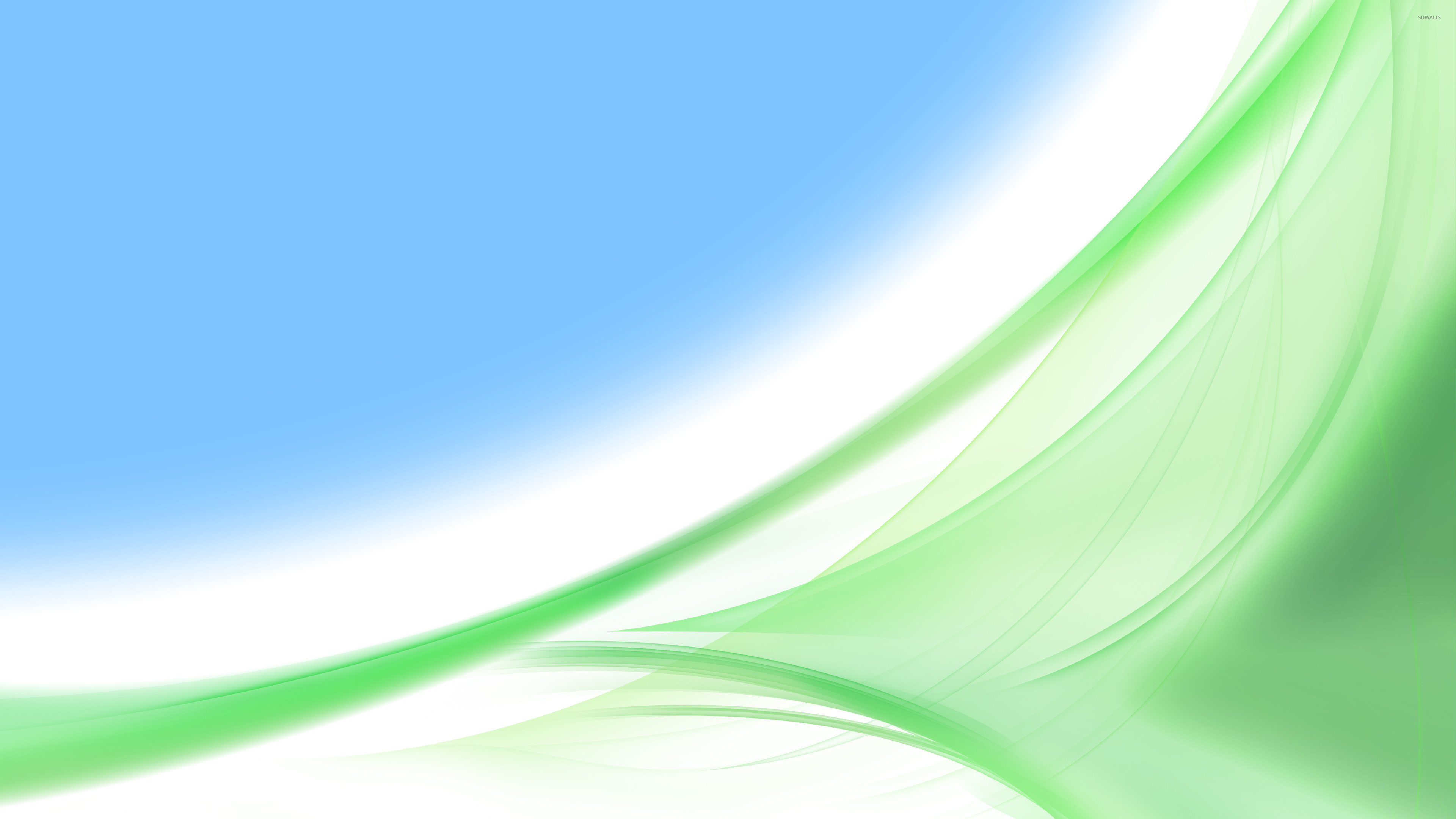 Green Curves 4 Wallpaper Abstract Wallpapers 44433