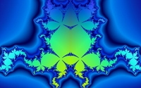 Green fractal swirls on top of the blue curves wallpaper 1920x1200 jpg