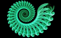 Green glowing fractal swirl wallpaper 1920x1080 jpg