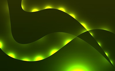 Green glowing waves wallpaper