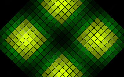 Green rhombuses wallpaper