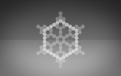 Hexagon snowflake wallpaper
