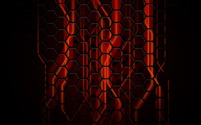Honeycomb pattern wallpaper