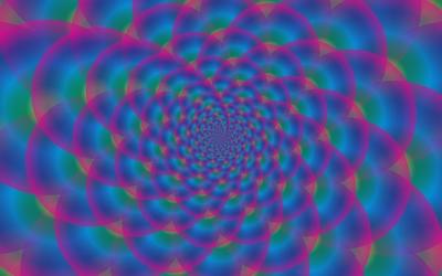 Hypnotic bubbles wallpaper