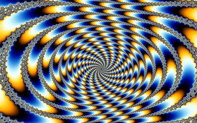 Hypnotic fractal abyss wallpaper