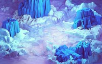 Icy blue mountains wallpaper 2560x1440 jpg