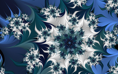 Icy flowers wallpaper