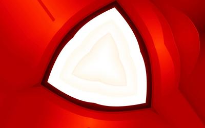 Layered triangle wallpaper
