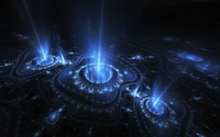 Light beam emerging from the fractal swirls wallpaper 1920x1200 jpg
