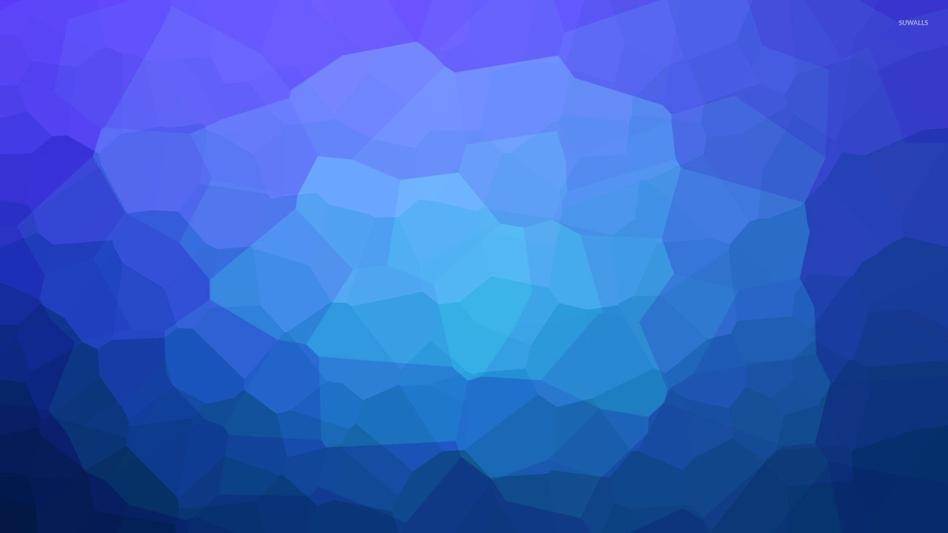Light blue shapes in the middle of dark ones wallpaper