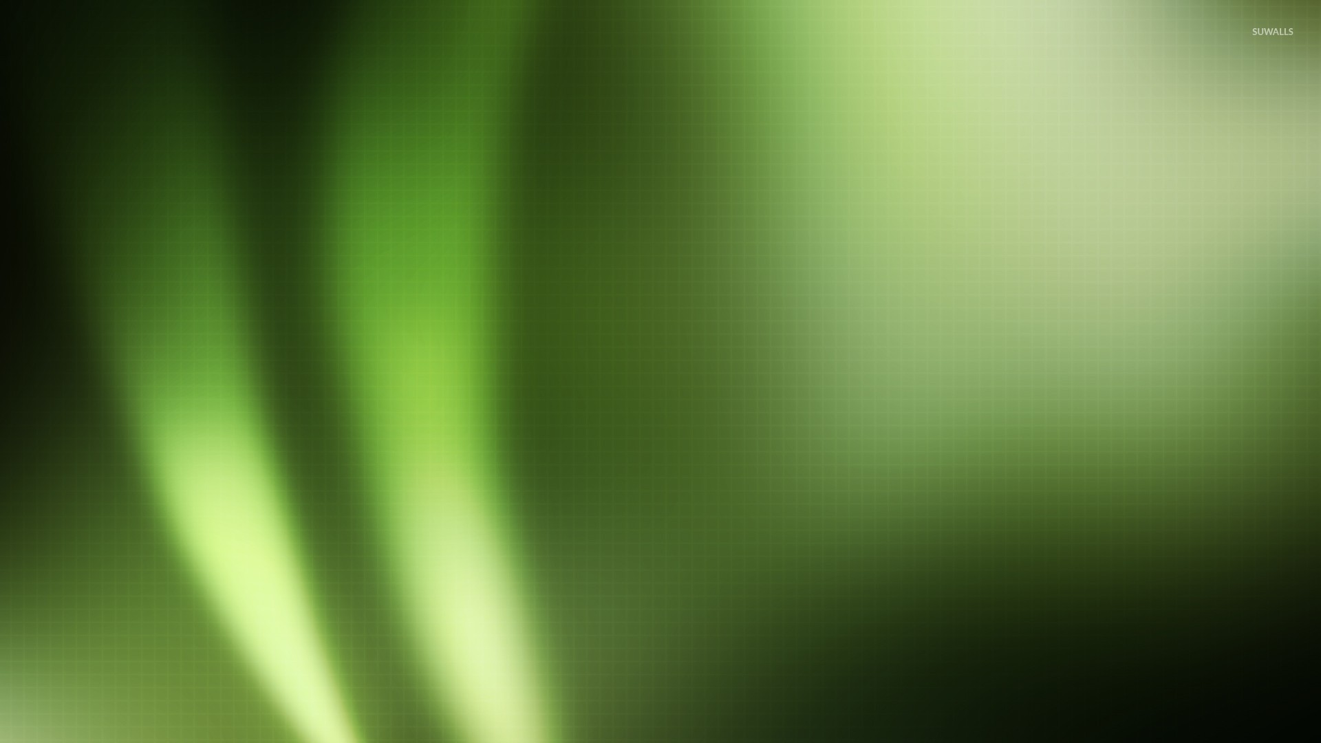 Light flares on green square pattern wallpaper - Abstract