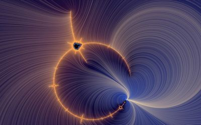 Light fractal curvy lines wallpaper