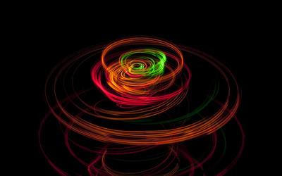 Light rings wallpaper
