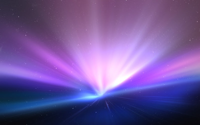 Light rapture in space wallpaper