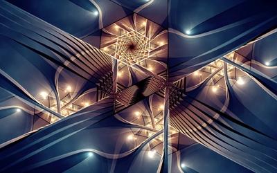 Lit fractal wallpaper