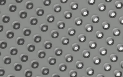 Metallic circle pattern wallpaper