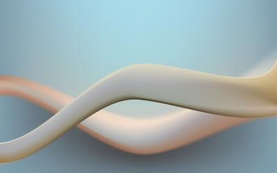 Milky curves wallpaper