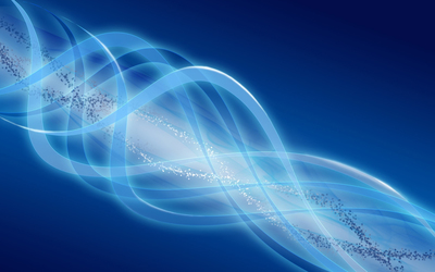 Molecules inside the glowing curves Wallpaper