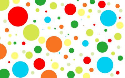 Multicolored circles wallpaper
