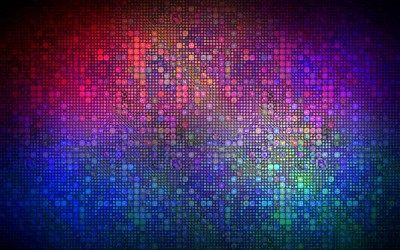 Multicolored mosaic wallpaper