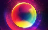 Multicolored neon circle wallpaper 2560x1440 jpg