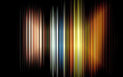 Narrow colorful stripes wallpaper