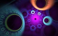 Neon circles wallpaper 1920x1080 jpg