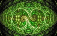 Neon green spiraling fractal design wallpaper 1920x1200 jpg