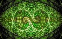 Neon green spiraling fractal design wallpaper 1920x1200 jpg