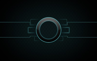 Neon outlined circle wallpaper
