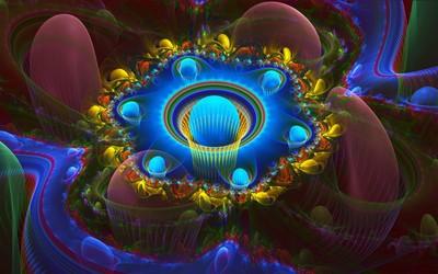 Neon psychedelic design wallpaper