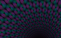 Neon rings forming a tunnel wallpaper 1920x1080 jpg