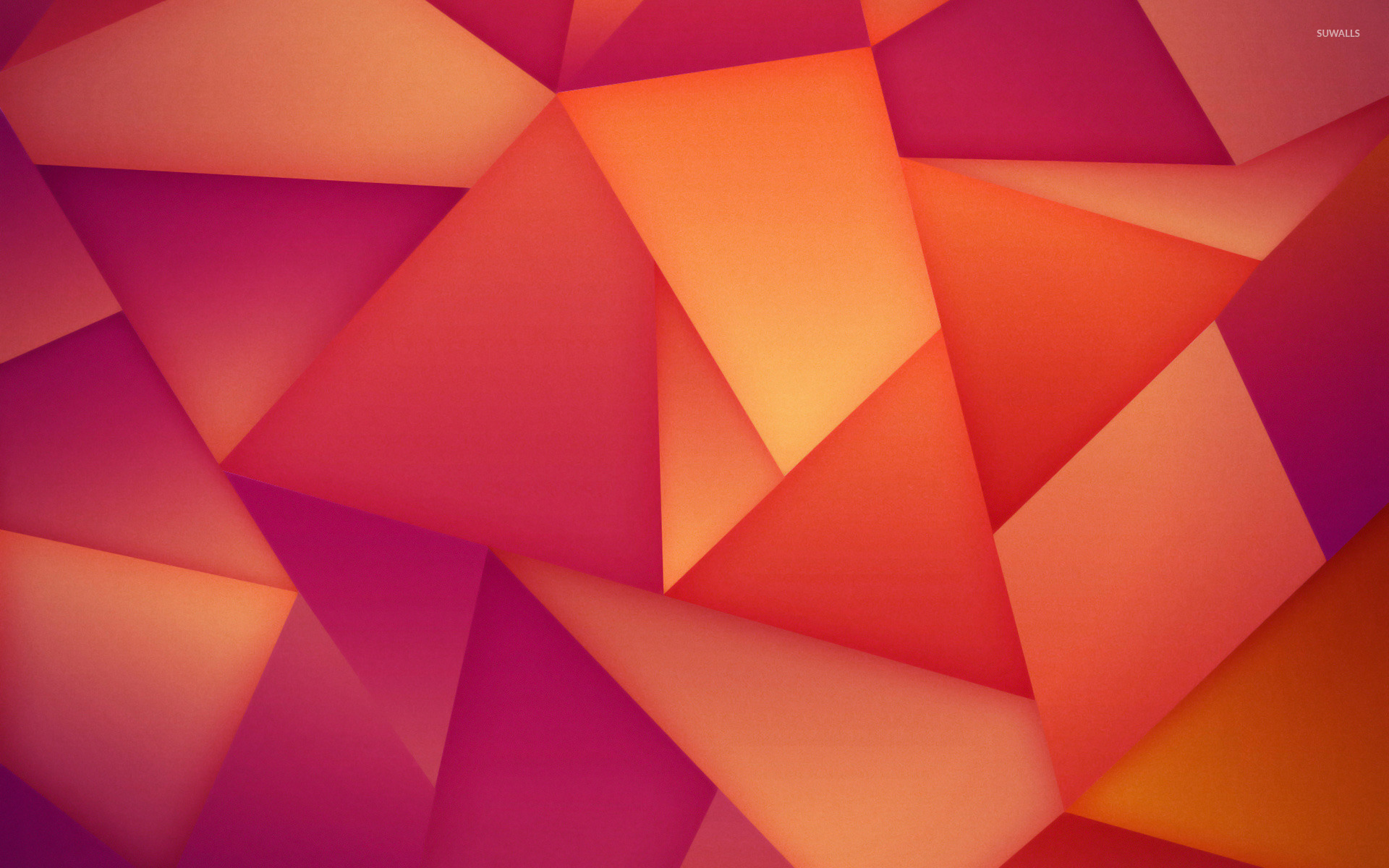 Orange and purple polygons wallpaper abstract wallpapers for Orange and purple walls