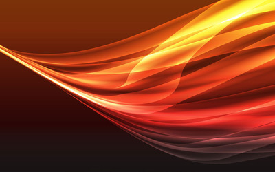 Orange gradient curves wallpaper
