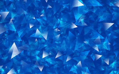 Overlapping blue and silver triangles wallpaper