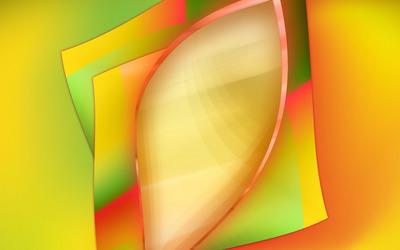 Overlapping orange shapes wallpaper