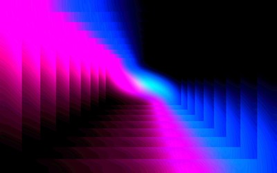 Pink and blue tunnel wallpaper