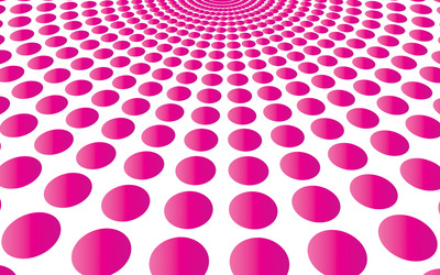 Pink circles forming a funnel wallpaper