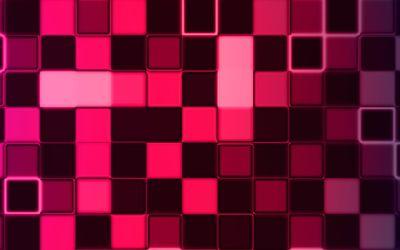 Pink cube wall wallpaper