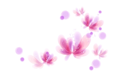 Pink flowers floating wallpaper