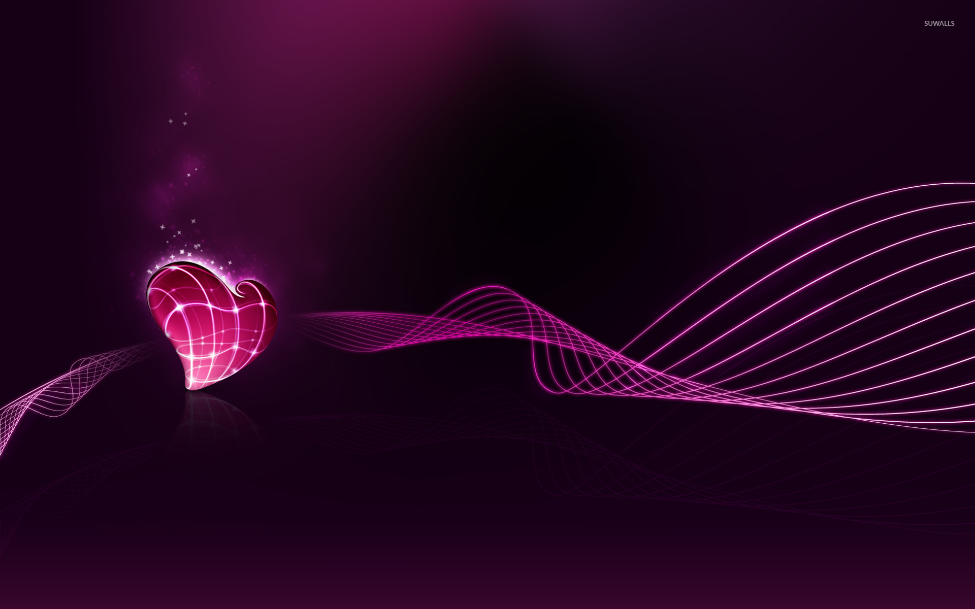 pink heart wallpaper - abstract wallpapers - #15683