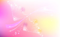 Pink sparkling wings wallpaper 1920x1200 jpg