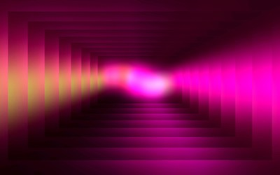 Pink tunnel wallpaper