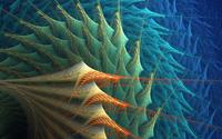 Pointy fractal shapes wallpaper 2560x1440 jpg