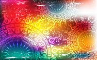 Psychedelic suns wallpaper 2560x1600 jpg