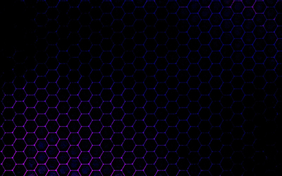 Purple gradient on the honeycomb wallpaper